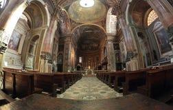 San Pietro al Rosario Church em Novara, Itália fotografia de stock