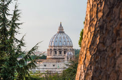 San Pietro, as seen from Gianicolo Royalty Free Stock Images