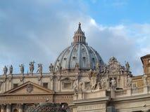 SAN Pietro Basilica σε Βατικανό Στοκ εικόνα με δικαίωμα ελεύθερης χρήσης