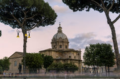San Pietro in carcere Church at sunset Royalty Free Stock Photos