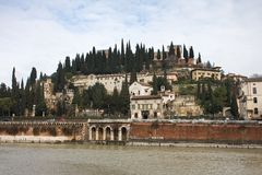 San Pietro Castle, Verona Royalty Free Stock Photography