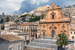 San Pietro Church, Modica, Sicily, Italy. Saint Peter church in the town of Modica in the Ragusa province of Sicily Royalty Free Stock Photo