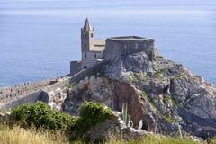 San Pietro church at Porto Venere in Italy Royalty Free Stock Image