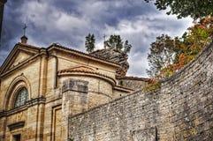 San Pietro church in San Marino under a cloudy sky Stock Photography
