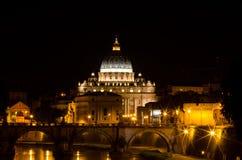 San Pietro in de nacht Royalty-vrije Stock Fotografie