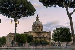 San Pietro in der carcere Kirche am Sonnenuntergang Lizenzfreie Stockfotos