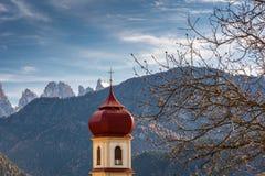 San Pietro di Laion, Bolzano, Italy. The Church. Stock Photos