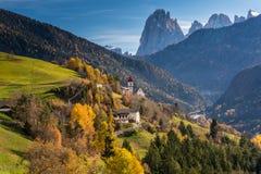 San Pietro di Laion, Bolzano, Italy. The Church. Stock Photo