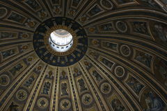 San Pietro Dome. Interior of the San Pietro Dome in Vatican City, Rome Italiy royalty free stock photos