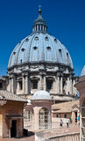 San Pietro Dome. Seen from the top of the Basilica in Vatican City stock photo