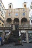 San Pietro i den Banchi kyrkan, Genova fotografering för bildbyråer