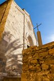 San Pietro kyrka Corniglia Italien fotografering för bildbyråer