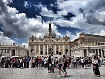 San Pietro, la place de St Peter Photos stock