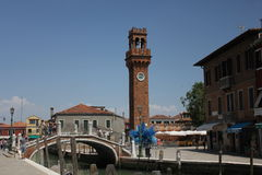 SAN Pietro Martire Bell Tower σε Murano Στοκ φωτογραφία με δικαίωμα ελεύθερης χρήσης