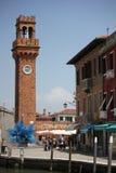 San Pietro Martire Bell Tower i Murano Fotografering för Bildbyråer