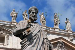 San Pietro's sculptures Royalty Free Stock Image