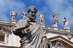 San Pietro's sculptures Royalty Free Stock Image