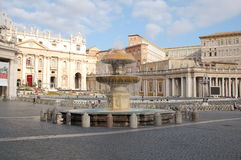San Pietro Square in Vatican City. Rome, Italy Stock Image