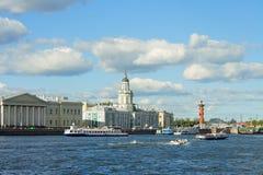 San Pietroburgo, argine dell'università Fotografia Stock Libera da Diritti