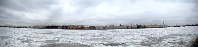 San Pietroburgo in panarama di inverno Fotografie Stock