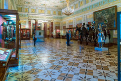 SAN PIETROBURGO, RUSSIA - 25 DICEMBRE 2016: Visita dei turisti Fotografie Stock