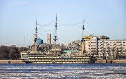 San Pietroburgo, Russia, il 14 marzo 2015 Il restauran della barca a vela Fotografia Stock Libera da Diritti