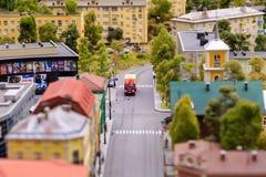 San Pietroburgo, Russia - 13 maggio 2017: Frammento grande grande Maket Russia Grande Maket Russia modello del ` s del mondo il p Fotografia Stock