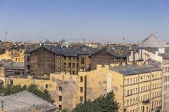 29 06 2017, San Pietroburgo, Russia Primo mattino alla prospettiva di Nevsky Fotografia Stock Libera da Diritti