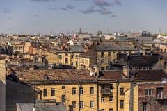 29 06 2017, San Pietroburgo, Russia Primo mattino alla prospettiva di Nevsky Immagini Stock Libere da Diritti