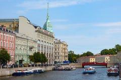 San Pietroburgo, vista del fiume di Moika Fotografia Stock Libera da Diritti