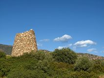San Priamo, old tower, Sardinia, Utaly Stock Photography