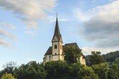 San Primus e chiesa di Felician in Maria Worth, Carinzia, Aus Fotografia Stock