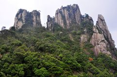 San-Qing-San berg Royaltyfri Foto