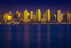 San que brilla intensamente Diego Skyline Fotos de archivo