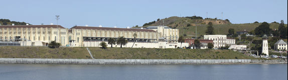 San Quentin. State Penitentiary is situated along San Francisco Bay Stock Images