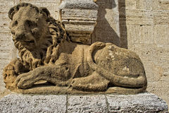 San quirico church lion Royalty Free Stock Images