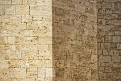 San quirico church wall stone background Stock Images