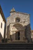 SAN QUIRICO D ` ORCIA,意大利- 2016年10月30日:圣Quirico D ` Orcia大教堂在托斯卡纳 库存图片