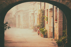 San Quirico d`Orcia city street Royalty Free Stock Image