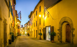 San Quirico D'orcia by night, Tuscany Stock Photography