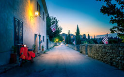 San Quirico D'orcia by night, Tuscany Stock Image