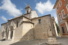 San Quirico d'Orcia (Tuscany), church Stock Photo