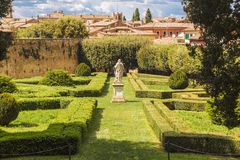 San Quirico. Famous Italian garden of Horti Leonini Royalty Free Stock Photo