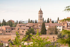 San Quirico, Tuscany. Panoramic view Stock Photography