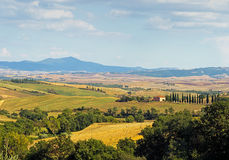 San Quirico, Val d'Orcia - general view, Tuscany, Italy Stock Photo