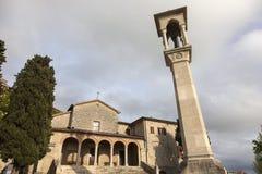 San Quirino kyrka i San Marino Arkivbild