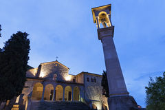 San Quirino kyrka i San Marino Arkivfoto
