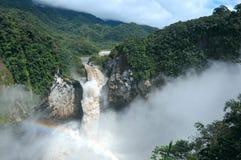 Πτώσεις SAN Rafael Ο μεγαλύτερος καταρράκτης στον Ισημερινό Στοκ Φωτογραφία