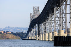 San Rafael Bridge California. Structural features of the San Rafael Bridge CA seen from a sailboat passing underneath Stock Photo