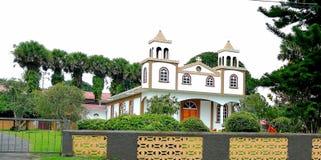 San Rafael Catholic church in  in San Ramon, Costa Rica. Nice church made of wood Stock Photos